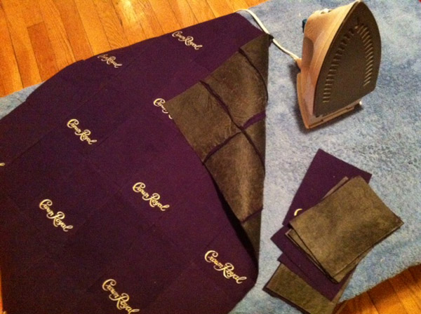how to make pants out of crown royal bags