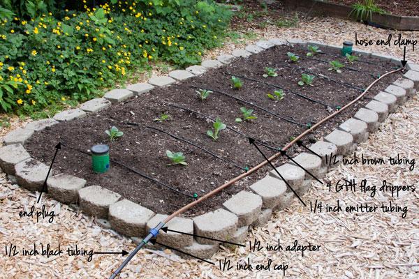 Watering Drip Irrigation Rake And Make
